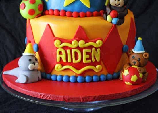 Circus Tent Cake 1st Birthday  Rose Bakes