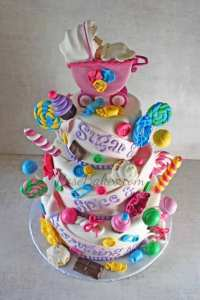 Sugar and Spice and Everything Nice Baby Shower Cake for ...