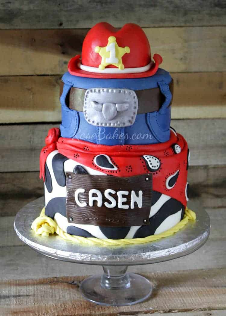 Red Western Cowboy Hat Cake Rose Bakes