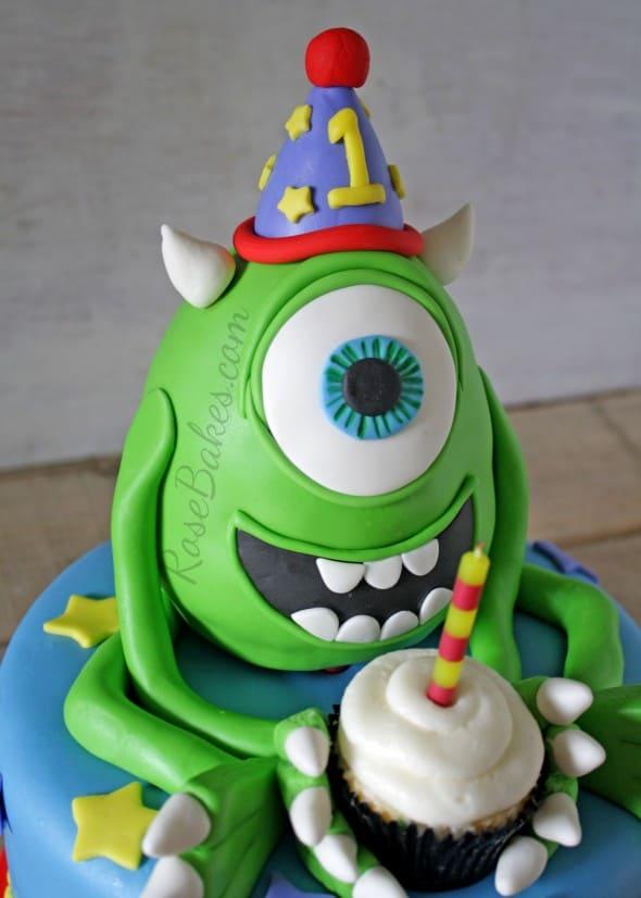 Mike Wazowski Monsters Inc Cake  Rose Bakes
