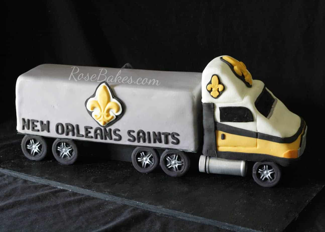 New Orleans Saints 18 Wheeler Truck Grooms Cake  Rose Bakes