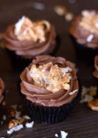 German Chocolate Cupcakes - Rose Bakes