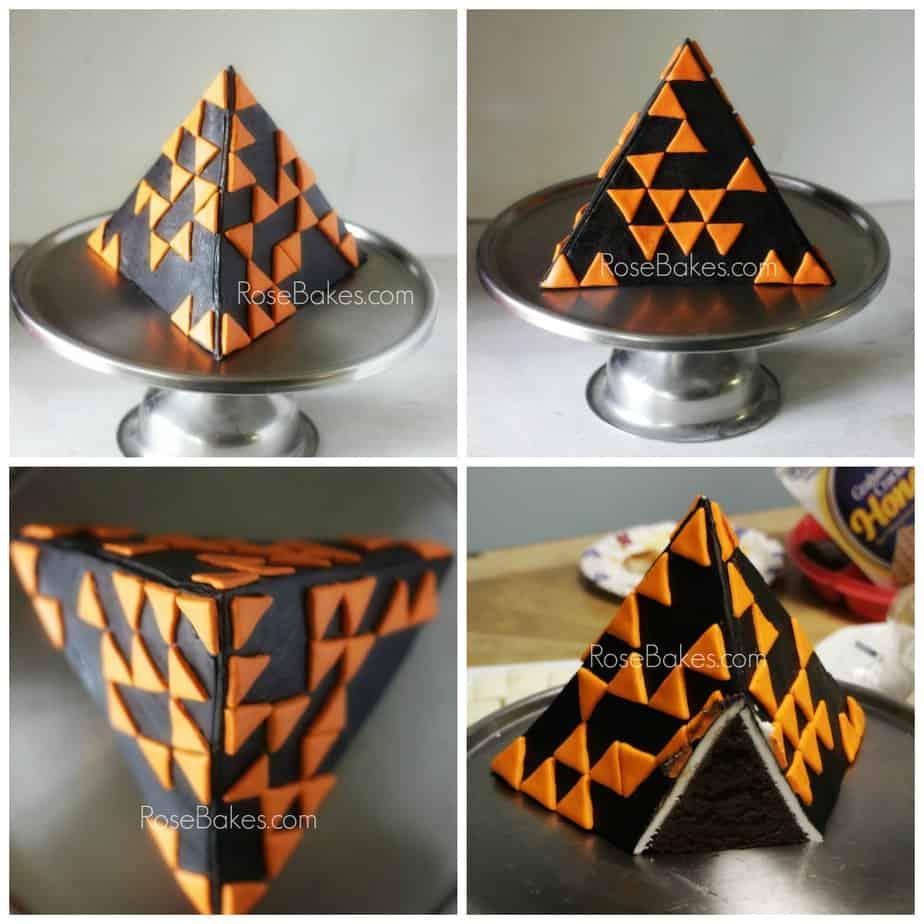 Geometric Cakes Tetrahedron Triangles Pyramids Cubes