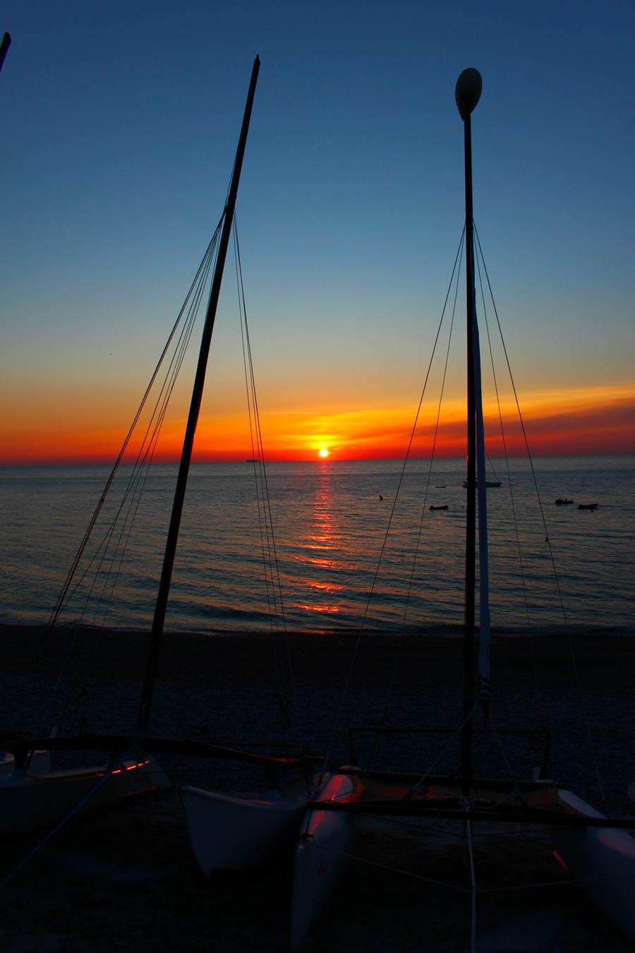 sunset normandie