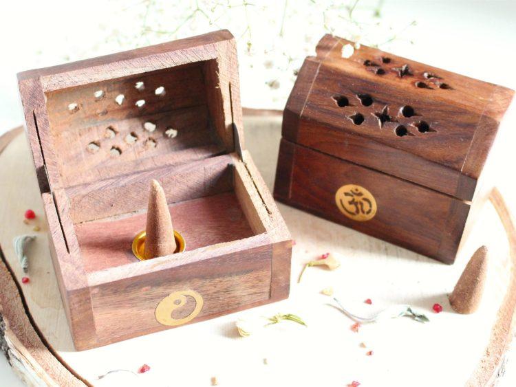 Boîte à encens artisanale