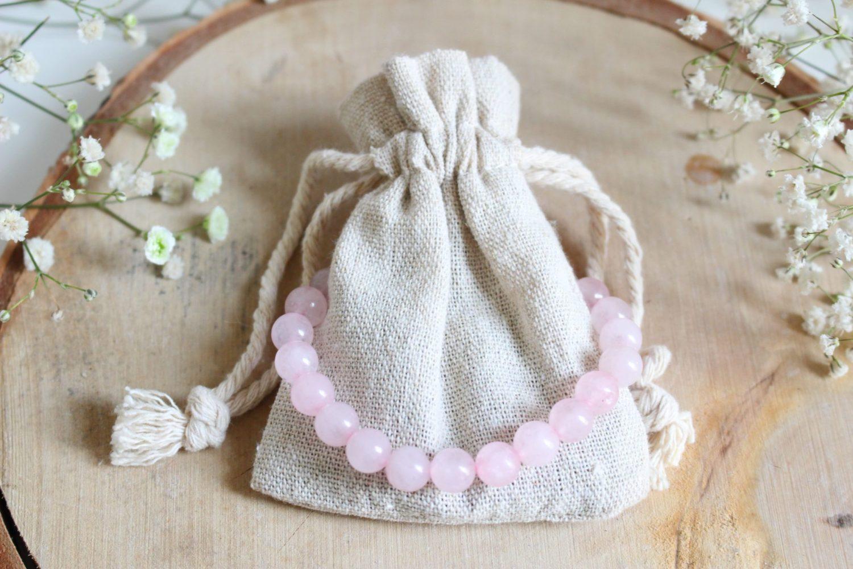Bijoux Quartz Rose pierre naturelle