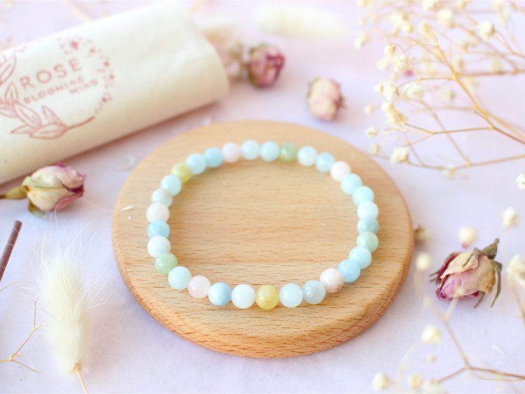 Bracelet en Morganite - Béryl Rose