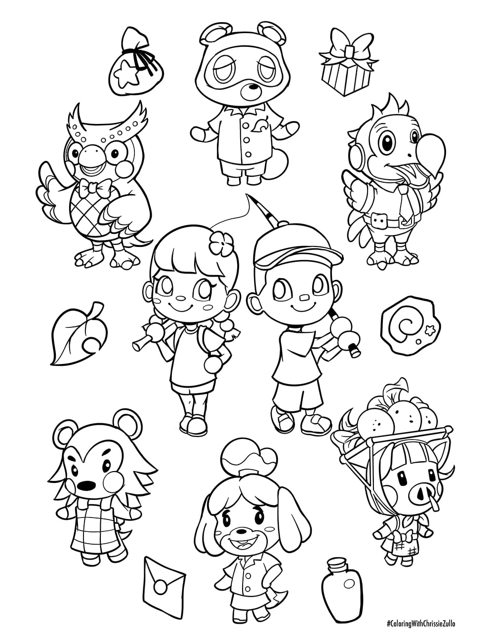 Printable Animal Crossing Coloring Pages : printable, animal, crossing, coloring, pages, Animal, Crossing, Coloring, Sheet, Chrissie, Zullo, Comic