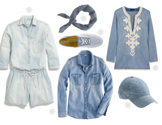 chambray shirt, chambray style, chambray fashion