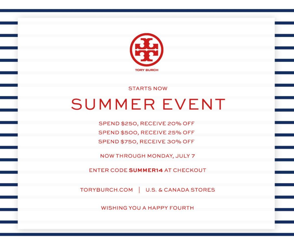 tory burch sale, tory burch promo code, tory burch summer sale, tory burch