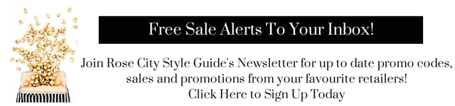 Fashion blog mailing list, promo code, sale alerts, sales, tory burch, kate spade, nordstrom, saks fifth avenue, rose city style guide