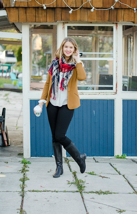 Rose-City-style-guide-fall-fashion-fall-outfit-ootd-fall-style-fashion-canadian-style-blog-blogger-plaid-scarf-camel-blazer-7