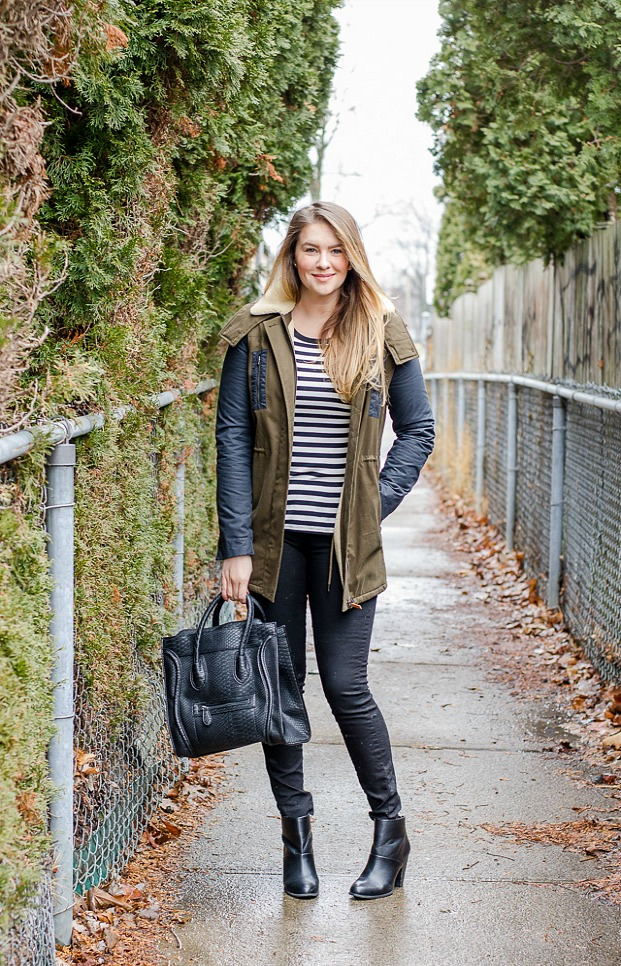 weekend-outfit-casual-blackbooties-lacoste-coat-fake-celine-bag-rose-city-style-guide-fashion-lifestyle-blog-canadian-windsor-ontario