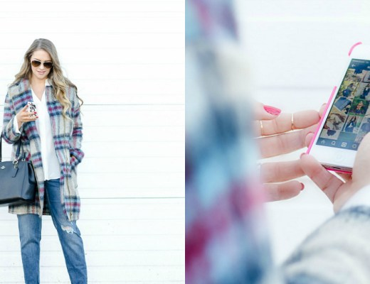 IPHONE-PLAID-JACKET-ROSECITYSTYLEGUIDE-URBANPLANET-BOYFRIENDJEANS--devonshire-mall-black-friday-instagram-takeover