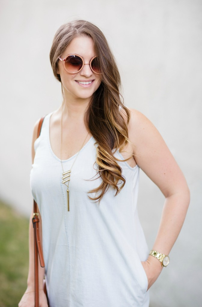 summer-sun-dress-chambray-old-navy-crossbody-round-sunglasses-wedges-rosecitystyleguide-canadian-blogger-2