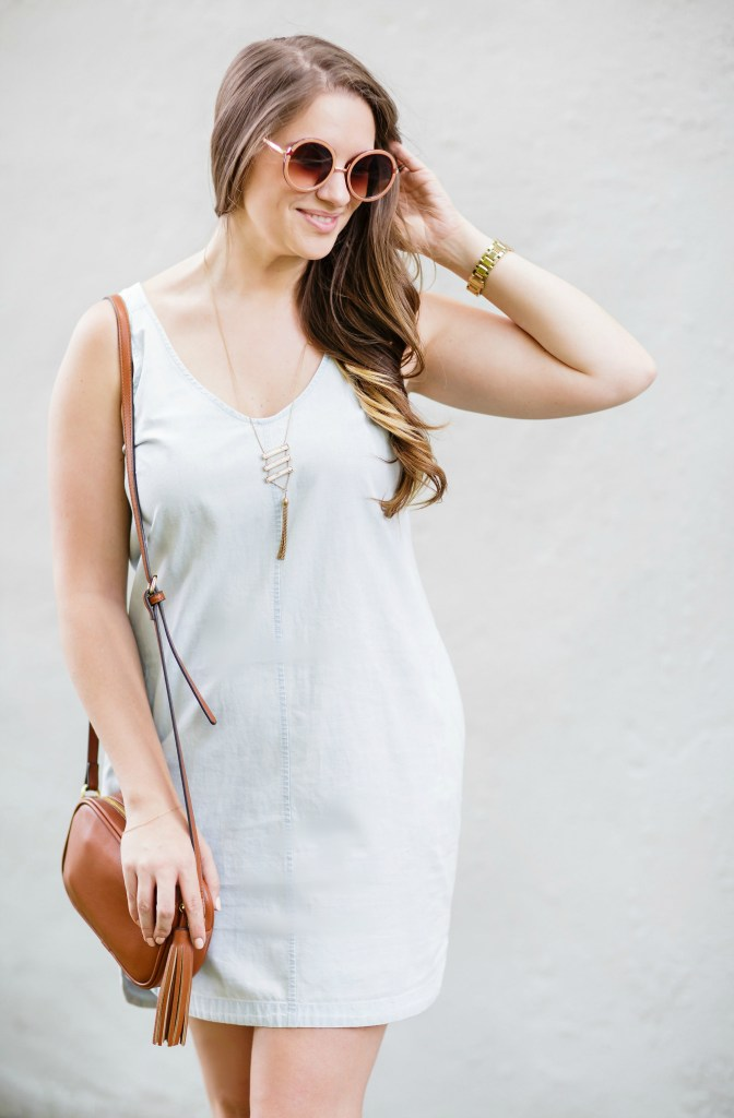 summer-sun-dress-chambray-old-navy-crossbody-round-sunglasses-wedges-rosecitystyleguide-canadian-blogger-4