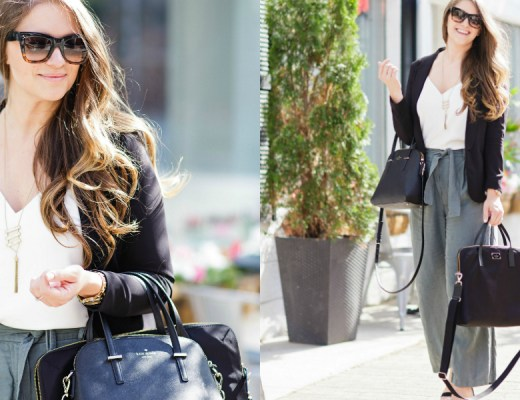 working-girl-office-outfit-wide-leg-pants-black-blazer-celine-sunglasses-kate-spade-laptop-bag-rosecitystyleguide-canadian-blogger-16