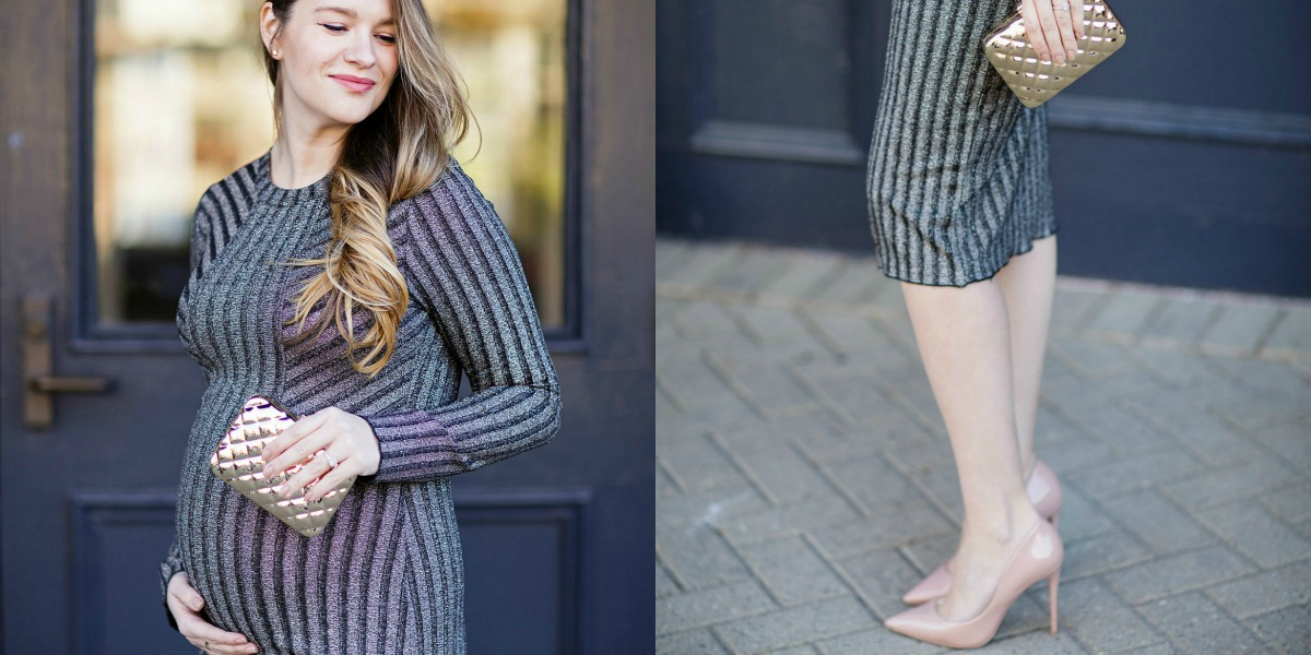 Maternity Christmas Outfit.Pregnancy Holiday Outfit Maternity New Years Eve Dress
