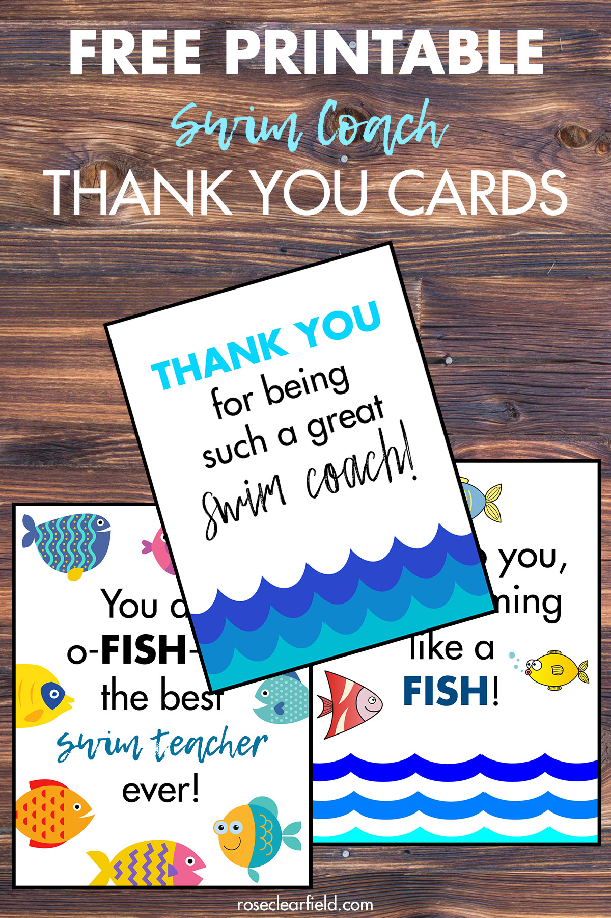 Coach Thank You Cards : coach, thank, cards, Printable, Coach, Thank, Cards, Clearfield