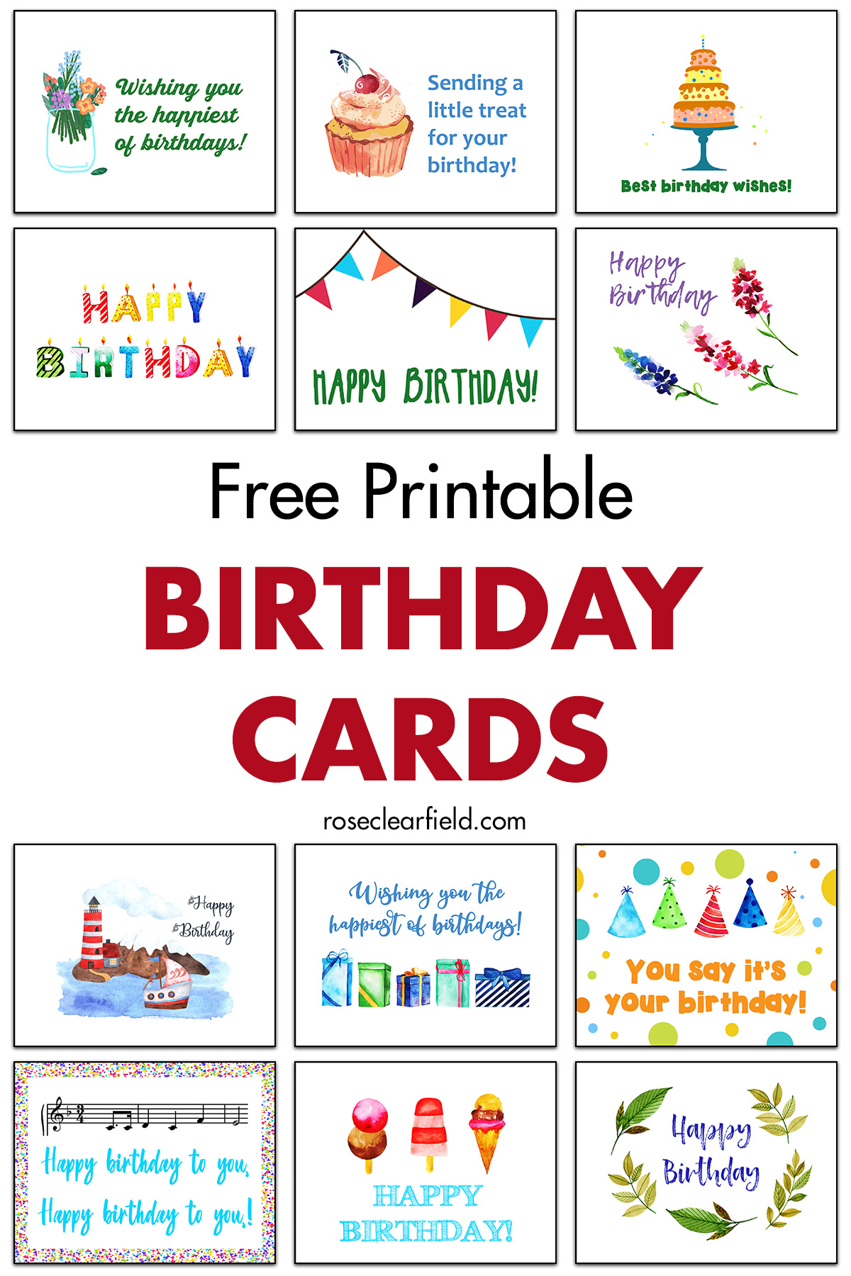 Printable Birthday Cards For Son : printable, birthday, cards, Printable, Birthday, Cards, Clearfield