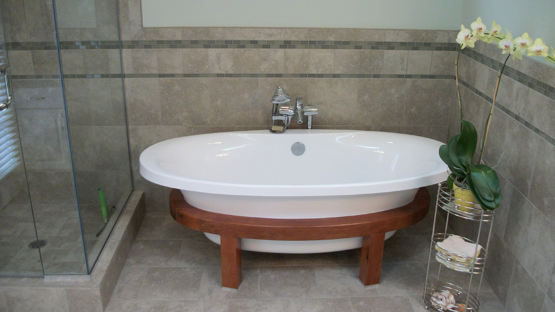 Bath Remodel Featuring Schon Free Standing Tub Notes