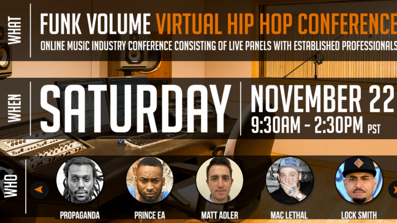 Virtual Hip Hop Conference, Presented by Funk Volume: November 22nd