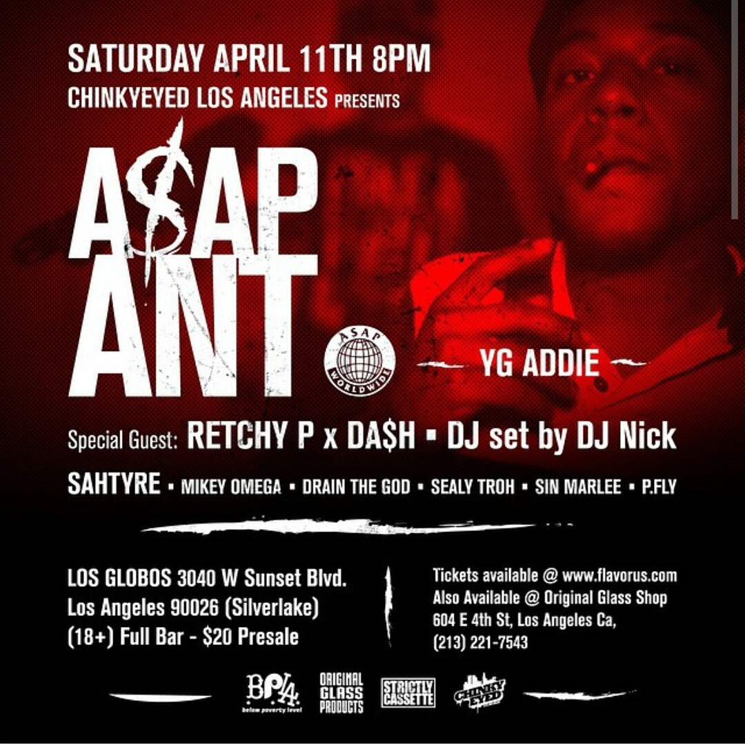 A$AP Ant x Retchy P x Da$h x DrainTheGod x Sin Marlee + More! 4/11