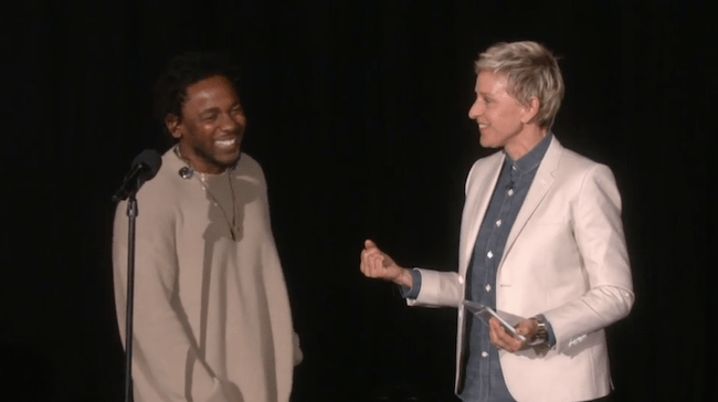 "Kendrick Lamar Performs ""These Walls"" On Ellen"