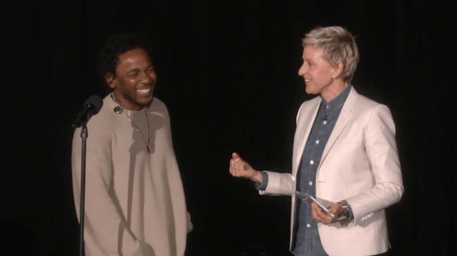 "Kendrick Lamar Performs ""These Walls"" On Ellen"