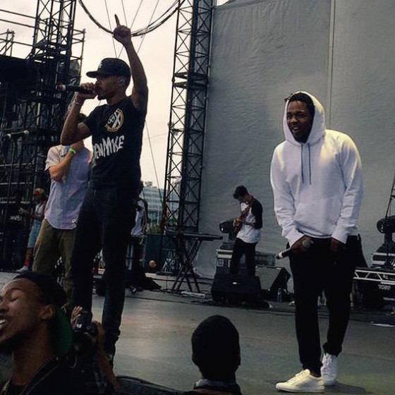 Kendrick Lamar Joins Chance The Rapper on Stage in Chicago