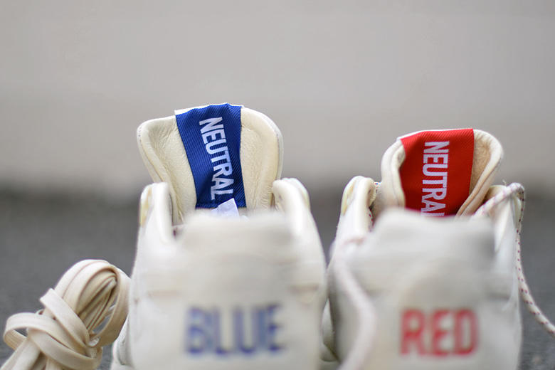 "e8fa33724f8 Coming with blue and red accents and the word ""neutral"" inscribed on the  tongue tag on the classic shoe"