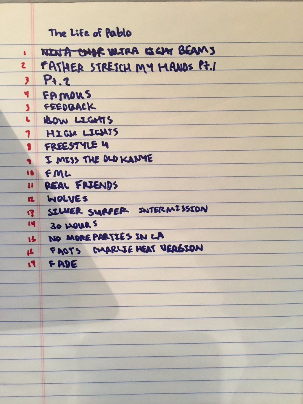 "Yeezy Shares Another ""Final"" Track List for ""The Life of Pablo"""