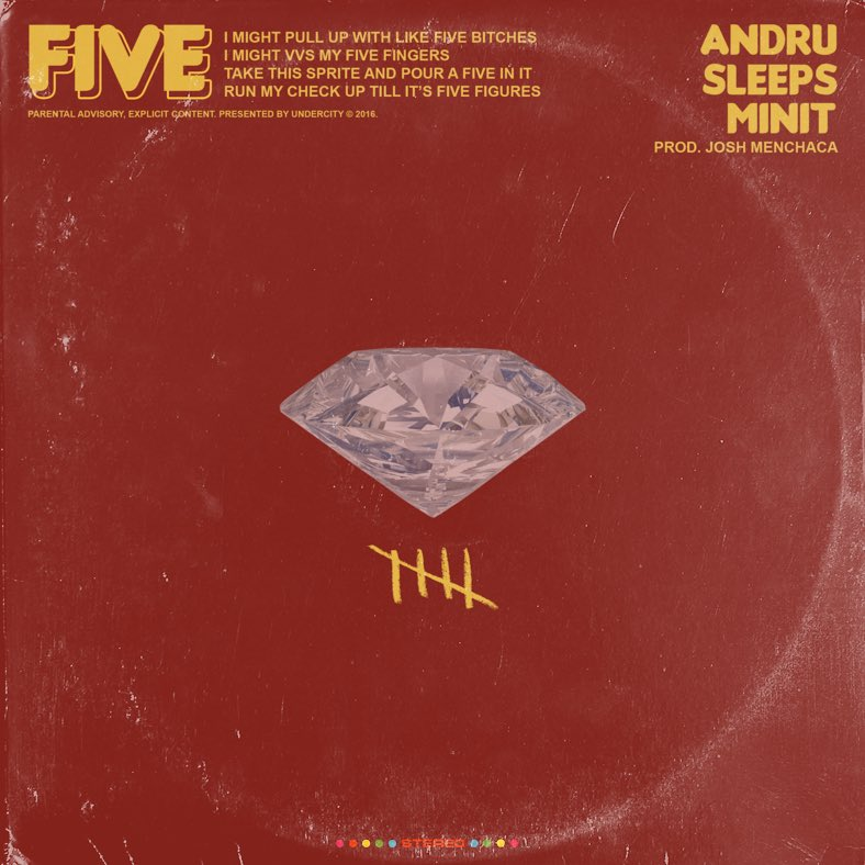 "ANDRU Links With Sleeps & Minit For ""FIVE!"""