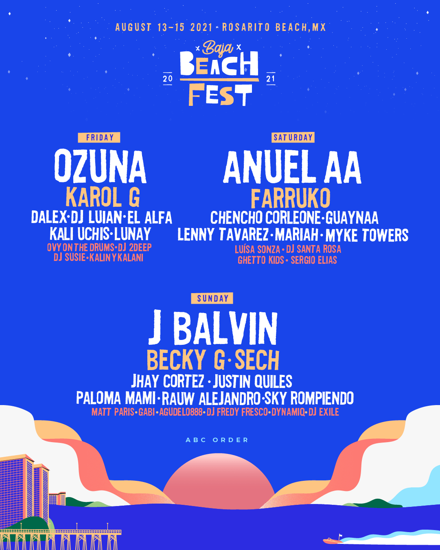 Baja Beach Fest Returns In 2021!