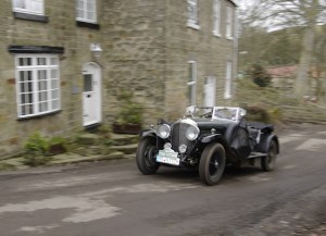 A 1928 Bentley Vanden Plas Tourer, driven by Marco and Joel Rollinger