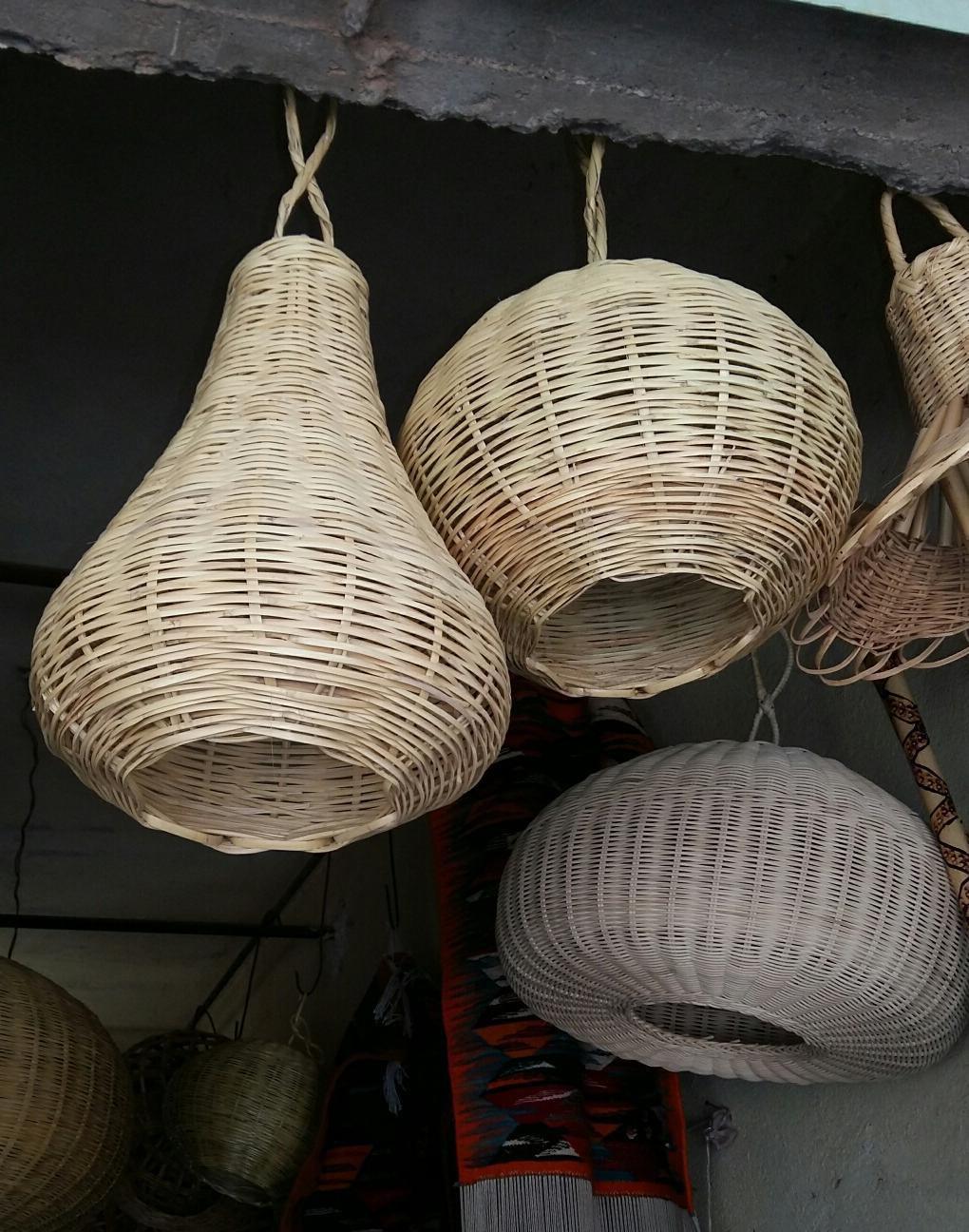Suspensions en bambou naturelles  Rose des Sables