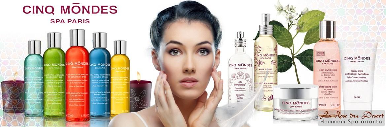 Retrouvez tous les produits, les soins et les Spas Cinq Mondes. Découvrez des cosmétiques naturels sans paraben ni silicone