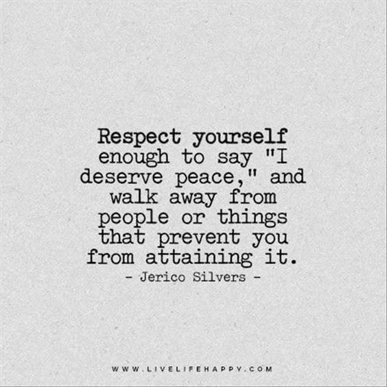 Positivity Monday- Respect Yourself