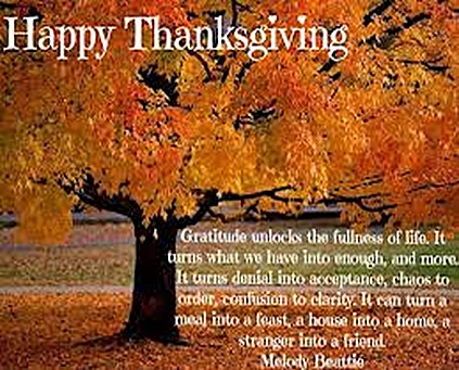Thanksgiving Gratitude! Inspirational Table Quotes! PEMF