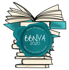 book bloggers novel of the year 2020 logo