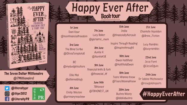 blog tour poster for happy ever after