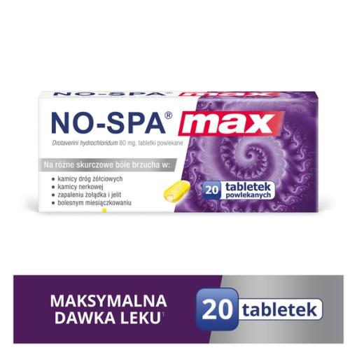 No Spa Max 80 mg beschichtete Tabletten 20 Stueck