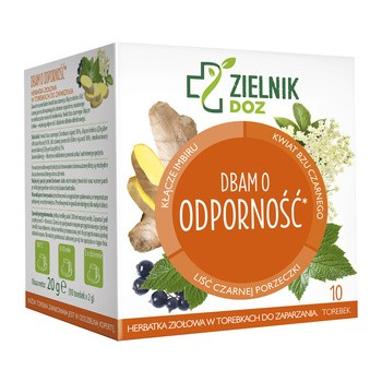 ZIELNIK DOZ I care about immune Kraeutertee 2 g 10 Beutel