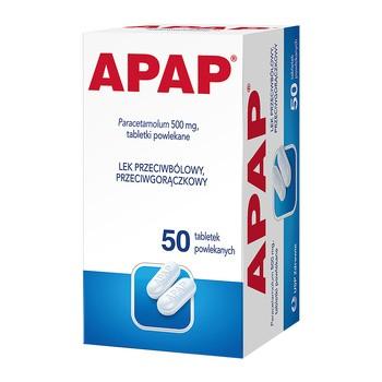 Apap, 500 mg, Filmtabletten, 50 Stück