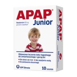 Apap Junior, 250 mg, Granulat, 10 Beutel