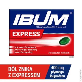 Ibum Express, 400 mg, Weichkapseln, 36 Stk.