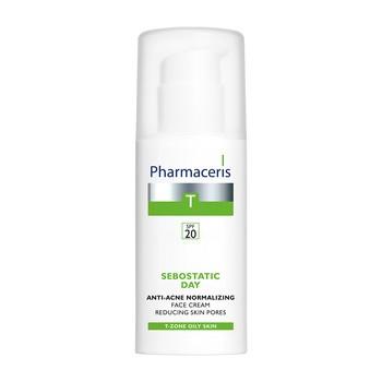 Pharmaceris T Sebostatic Day, normalisierende Anti-Akne-Creme, Poren straffend, SPF 20, 50 ml