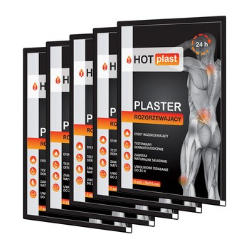 Set 5x Hot Plast, Wärmepflaster, 9 x 14 cm