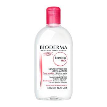 Bioderma Sensibio H2O, Mizellenwasser zur Gesichtsreinigung und Abschminkung, 500 ml