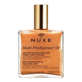 Nuxe Huile Prodigieuse OR, Trockenöl mit goldenen Partikeln für Gesicht, Körper und Haare, 100 ml